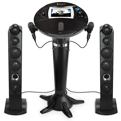 The Singing Machine ISM1060BT Hi-Def Pedestal Karaoke System-thumbnail
