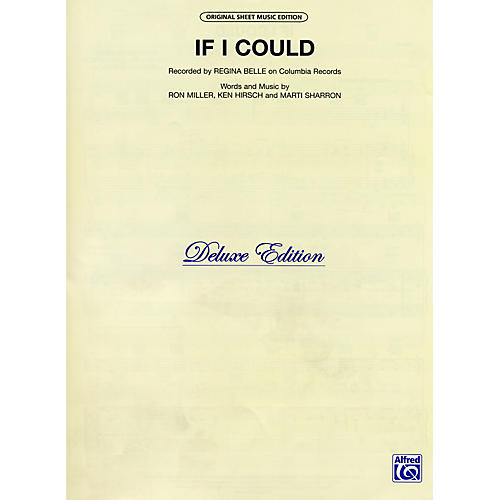 Alfred If I Could Recorded by Regina Belle Vocal, Piano/Chord Sheet Music