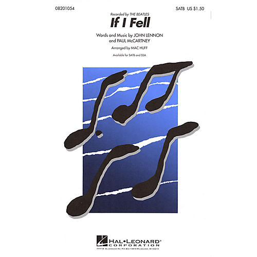 Hal Leonard If I Fell SSA by The Beatles Arranged by Mac Huff-thumbnail