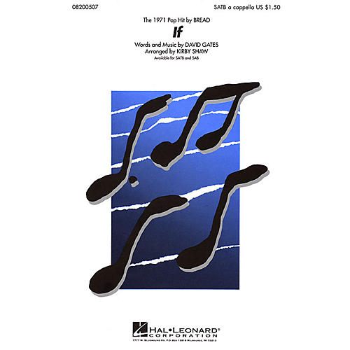 Hal Leonard If SATB a cappella by Bread arranged by Kirby Shaw-thumbnail