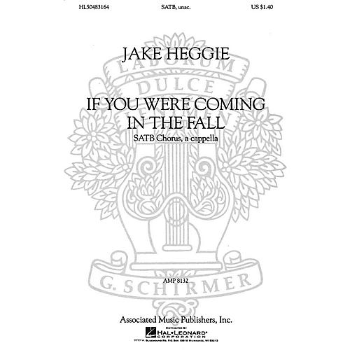 Associated If You Were Coming in the Fall (SSAATTBB a cappella) SSAATTBB A Cappella composed by Jake Heggie