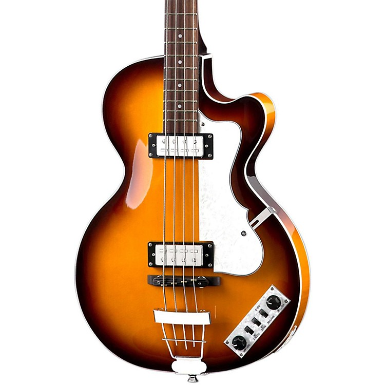 Hofner Ignition Club Bass with Case Sunburst