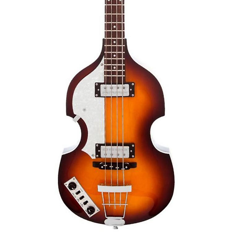 HofnerIgnition Series Vintage Violin Left-Handed BassSunburst w/Case