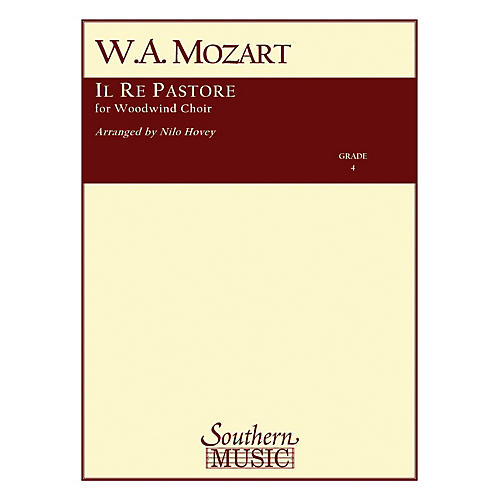 Southern Il Re Pastore Southern Music Series by Wolfgang Amadeus Mozart Arranged by Nilo W. Hovey-thumbnail