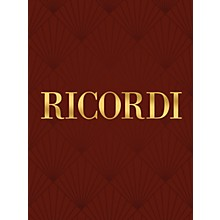 Ricordi Il povero mio cor RV658 Study Score Series Composed by Antonio Vivaldi Edited by Francesco Degrada