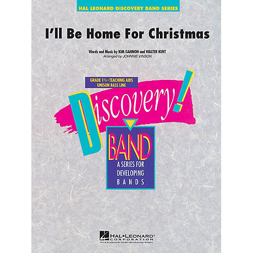 Hal Leonard I'll Be Home for Christmas Concert Band Level 1.5 Arranged by Johnnie Vinson