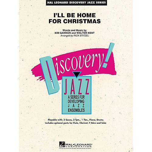 Hal Leonard I'll Be Home for Christmas Jazz Band Level 1.5 Arranged by Rick Stitzel