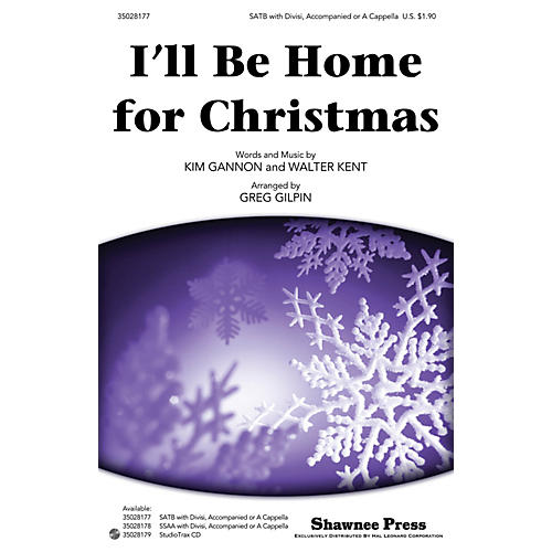 Shawnee Press I'll Be Home for Christmas SATB arranged by Greg Gilpin-thumbnail