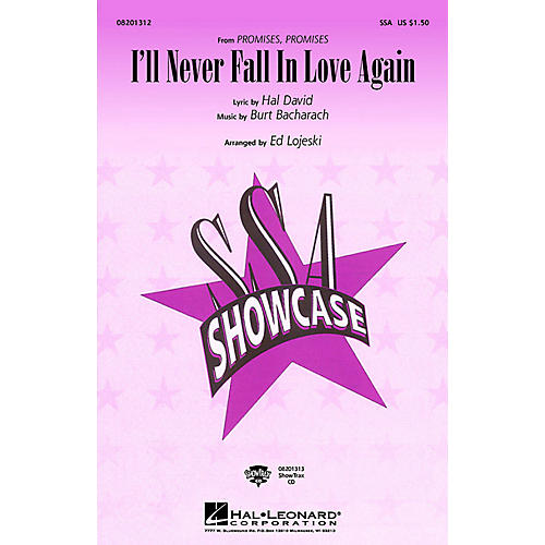 Hal Leonard I'll Never Fall in Love Again SSA by Dionne Warwick arranged by E Lojeski-thumbnail