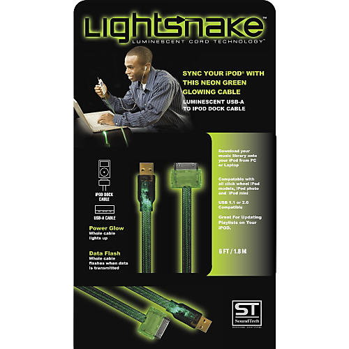 LightSnake Illuminated iPod Dock Cable