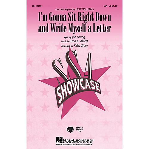 Hal Leonard I'm Gonna Sit Right Down and Write Myself a Letter SSA by Billy Williams arranged by Kirby Shaw