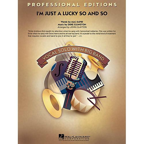 Hal Leonard I'm Just a Lucky So and So (Key: F) Jazz Band Level 5 Arranged by John Clayton-thumbnail
