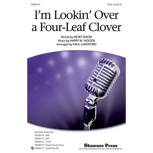 Shawnee Press I'm Looking Over A Four-leaf Clover SATB arranged by Paul Langford-thumbnail