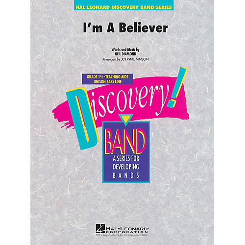 Hal Leonard I'm a Believer Concert Band Level 1.5 by Smash Mouth Arranged by Johnnie Vinson-thumbnail
