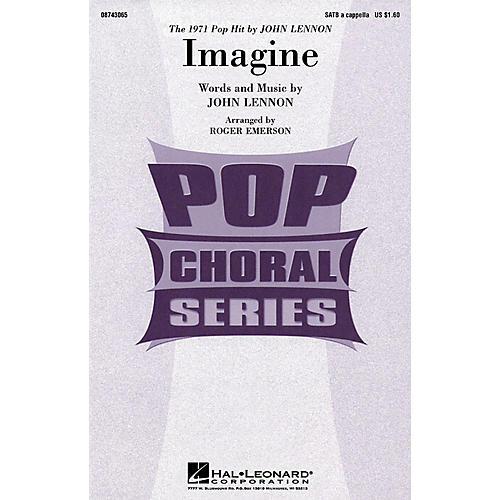 Hal Leonard Imagine SATB a cappella by John Lennon arranged by Roger Emerson-thumbnail
