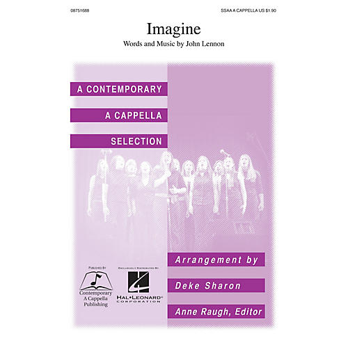 Contemporary A Cappella Publishing Imagine SSAA A Cappella by John Lennon arranged by Deke Sharon-thumbnail