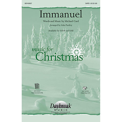 Daybreak Music Immanuel CHOIRTRAX CD by Michael Card Arranged by John Purifoy-thumbnail