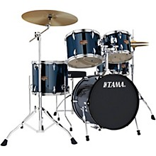 Tama Imperialstar 5-Piece Complete Drum Set with Meinl HCS Cymbals and 18 in. Bass Drum Midnight Blue