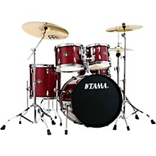 Tama Imperialstar 5-Piece Complete Drum Set with Meinl HCS Cymbals and 20 in. Bass Drum Candy Apple Mist
