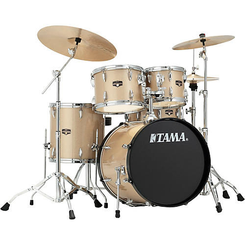 tama imperialstar 5 piece complete drum set with meinl hcs cymbals and 20 in bass drum. Black Bedroom Furniture Sets. Home Design Ideas