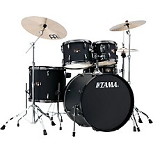 Tama Imperialstar 5-Piece Complete Kit Blacked Out Black with Meinl HCS Cymbals