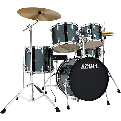 Tama Imperialstar 5-Piece Complete Kit with Meinl HCS Cymbals and 18 in. Bass Drum-thumbnail