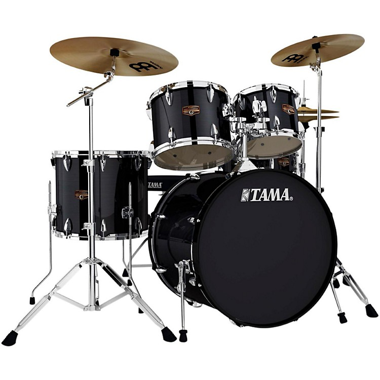 Tama Imperialstar 5-Piece Drum Set with Cymbals Hairline Black