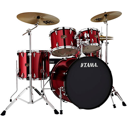 tama imperialstar 5 piece drum set with cymbals vintage red musician 39 s friend. Black Bedroom Furniture Sets. Home Design Ideas