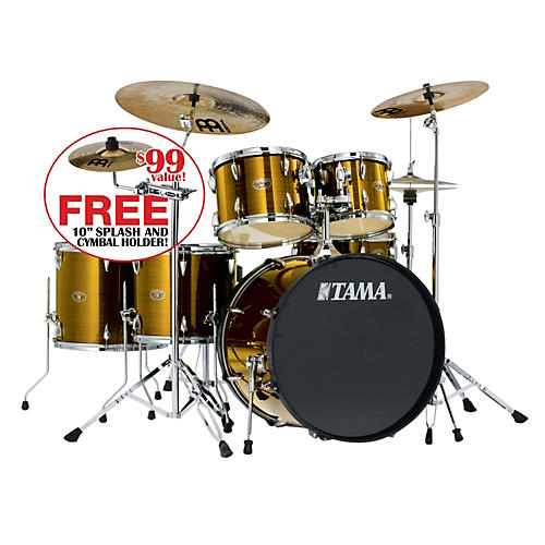 tama imperialstar 6 piece drum set with cymbals hairline gold musician 39 s friend. Black Bedroom Furniture Sets. Home Design Ideas