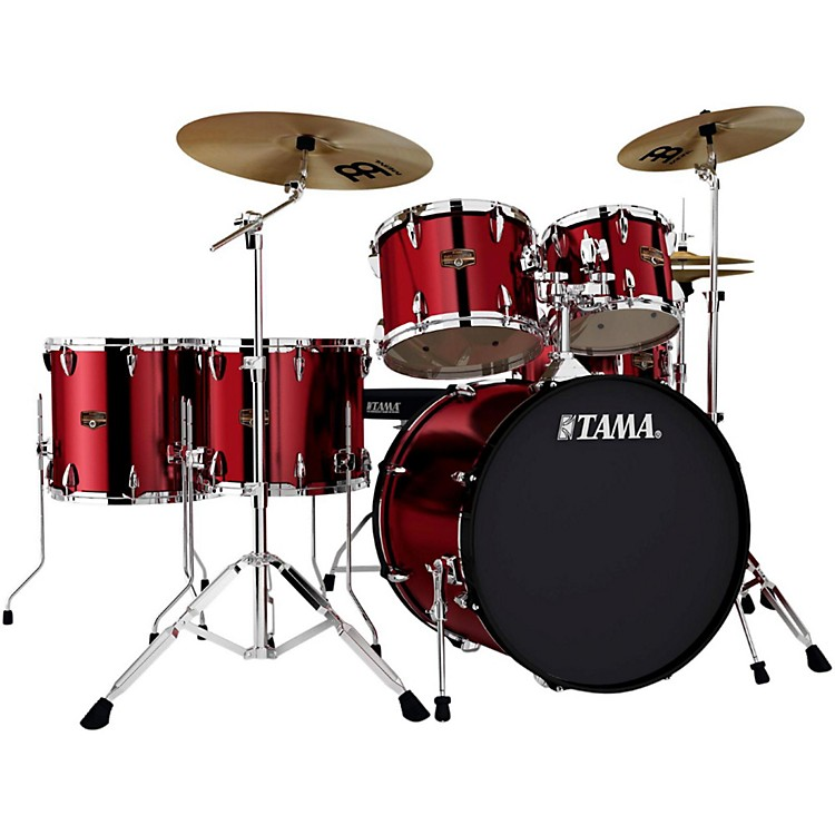 Tama Imperialstar 6-Piece Drum Set with Cymbals Vintage Red