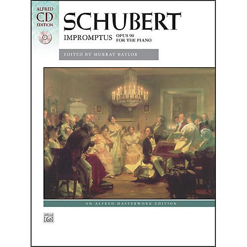 Alfred Impromptus, Op. 90 by Franz Schubert Book & Naxos Label CD-thumbnail