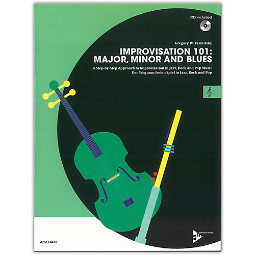 ADVANCE MUSIC Improvisation 101: Major, Minor, and Blues C Instruments Book & CD-thumbnail
