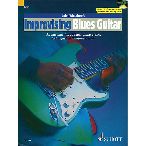 Schott Improvising Blues Guitar Guitar Series Softcover with CD Written by John Wheatcroft-thumbnail