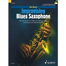Schott Improvising Blues Saxophone Woodwind Series Book with CD Written by Nick Beston