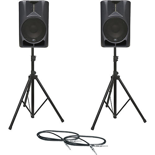 Peavey Impulse 12D Speaker Pair with Stands and Cables