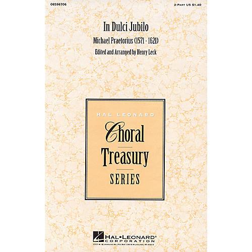 Hal Leonard In Dulci Jubilo 2-Part arranged by Henry Leck-thumbnail