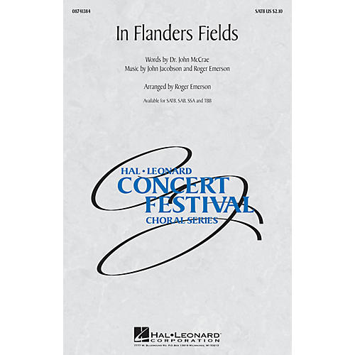 Hal Leonard In Flanders Fields TBB Arranged by Roger Emerson-thumbnail