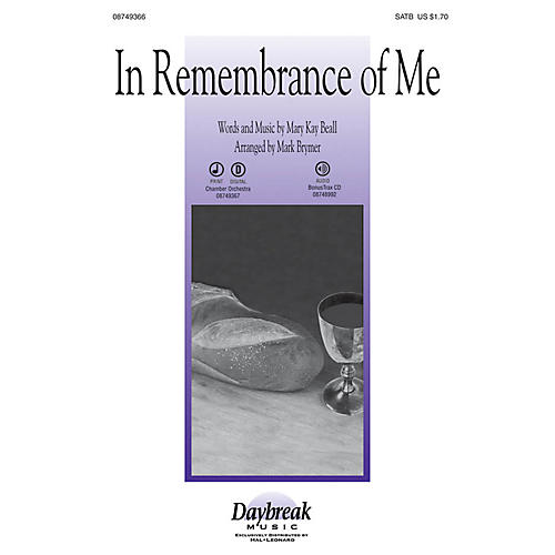 Daybreak Music In Remembrance of Me SATB arranged by Mark Brymer-thumbnail