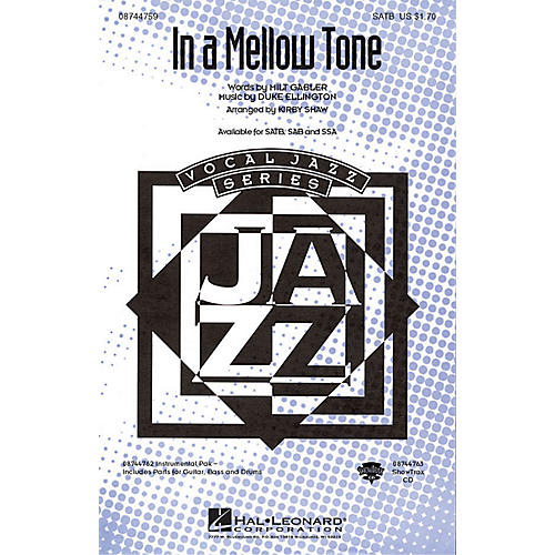 Hal Leonard In a Mellow Tone IPAKR by Duke Ellington Arranged by Kirby Shaw-thumbnail