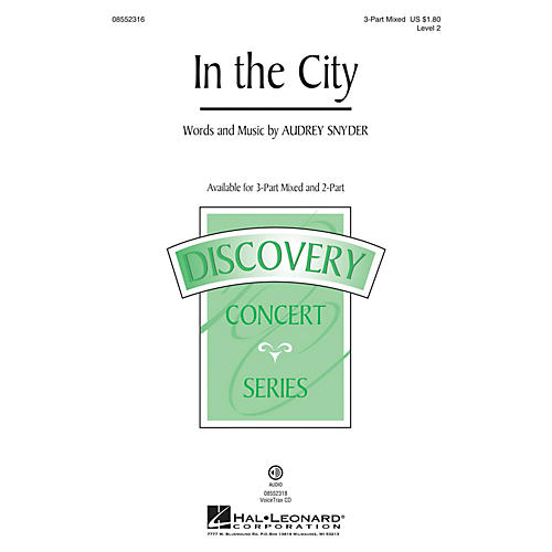 Hal Leonard In the City (Discovery Level 2) 3-Part Mixed composed by Audrey Snyder-thumbnail