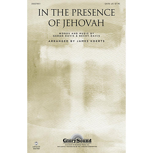 Shawnee Press In the Presence of Jehovah SATB arranged by James Koerts-thumbnail