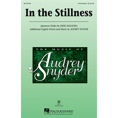 Hal Leonard In the Stillness 3-Part Mixed composed by Audrey Snyder-thumbnail