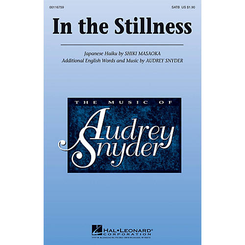 Hal Leonard In the Stillness SATB composed by Audrey Snyder-thumbnail