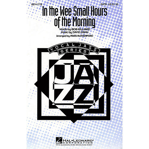 Hal Leonard In the Wee Small Hours of the Morning SATB by Frank Sinatra arranged by Paris Rutherford-thumbnail