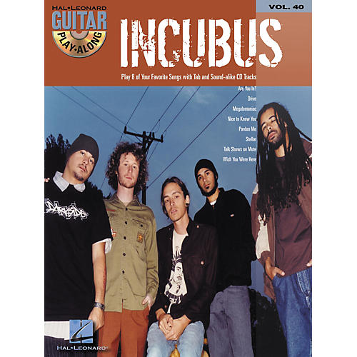Hal Leonard Incubus Guitar Play-Along Vol. 40 Book with CD