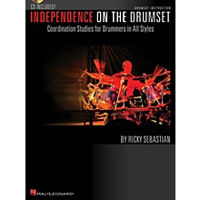 Hal Leonard Independence on the Drumset Drum Instruction Series Softcover with CD Written by Ricky Sebastian