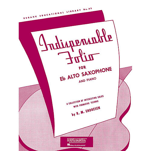 Rubank Publications Indispensable Folio - Eb Alto Saxophone and Piano Rubank Solo Collection Series-thumbnail