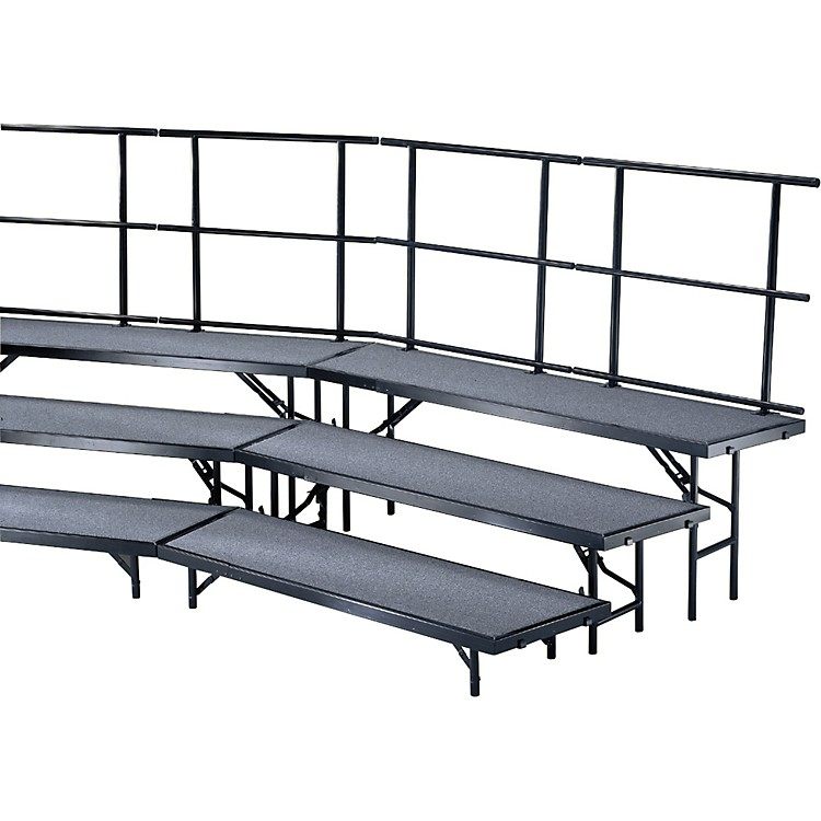 Midwest Folding Products Individual Tapered Standing Choral Risers 8