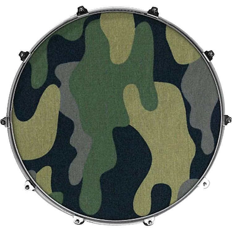 EvansInked by Evans Fabric Series Kick Drumhead24 InchB&W FLOWER