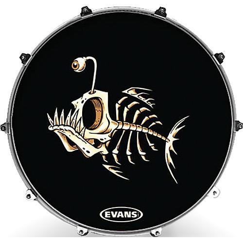 Evans Inked by Evans McWhite Series Kick Drumhead-thumbnail